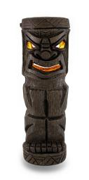 Boxer Tall Flickering Friki Tiki Wooden Solar Accent Light