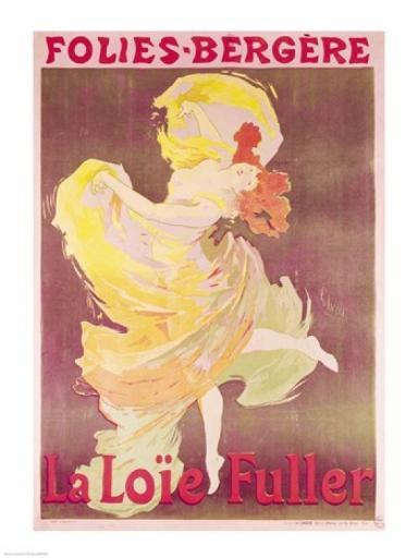 Poster advertising Loie Fuller Poster Print by Jules Cheret