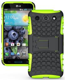 NEON LIME GREEN GRENADE TPU SKIN HARD CASE COVER STAND FOR LG OPTIMUS G PRO E980