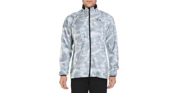 Oakley Mens Enhance Graphic Printed Fitness Track Jacket
