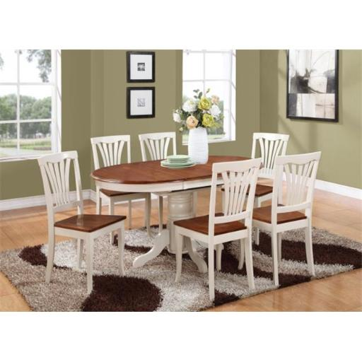 East West Furniture KENL5-WHI-W 5 Piece Dining Room Set-Oval Dining Table and 4 Dining Chairs