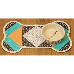 Quilt Dog Pet Placemat, 11 x 18 in.