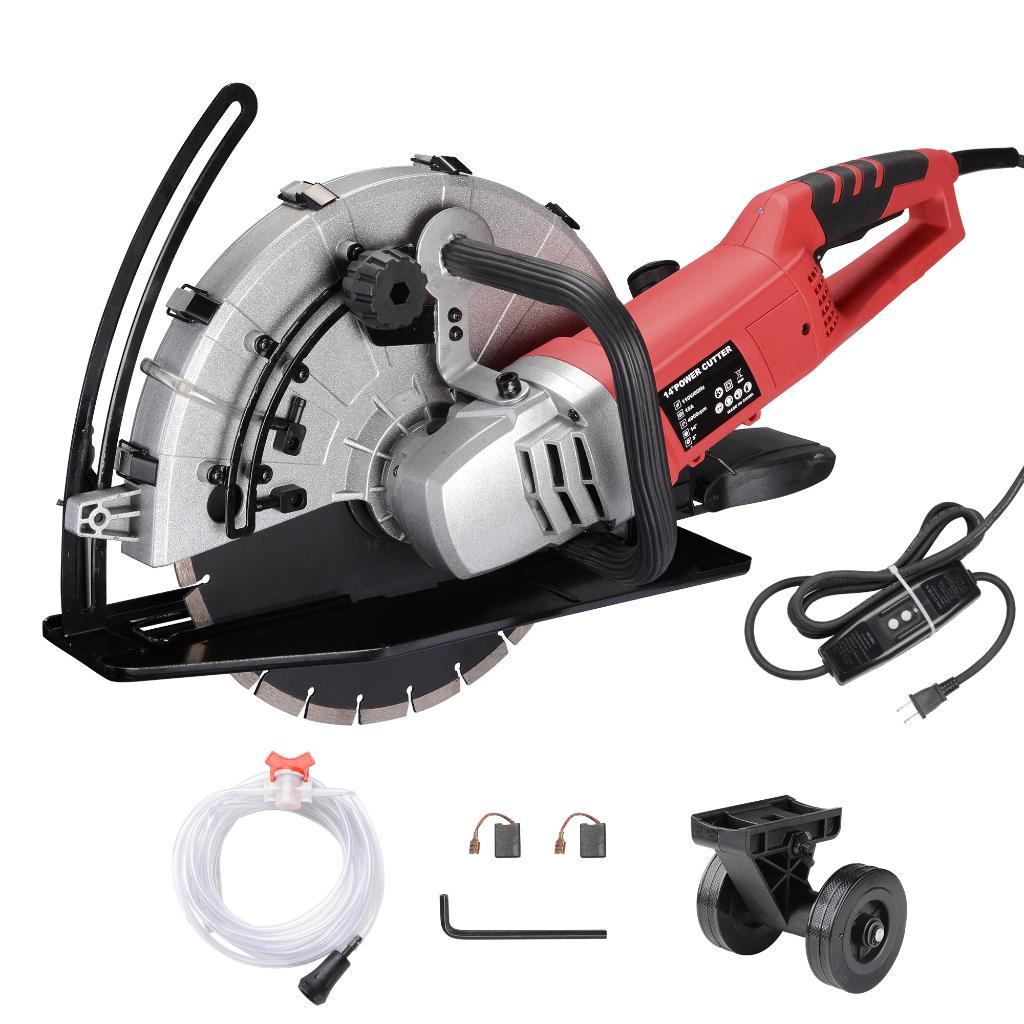 "Yescom 14"" Electric Concrete Saw Disc Cutter Wet Dry Circular Blade for Granite Stone"