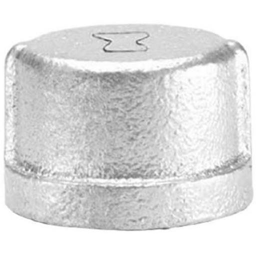 Anvil International 8700132759 1 in. Malleable Iron Pipe Fitting Galvanized Pipe Cap