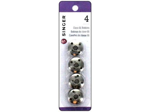 Sin2139 singer bobbins class 66 metal 4pc Singer Sewing Machine Bobbins are perfect for Singer and other quality sewing machines Class 66 Metal 4pc- For Singer machine models 66-1 through 66-18 99CL 185 192 201 609 717 and other top drop-in bobbin machine Never add thread to a partially f
