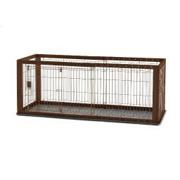 Richell 94920 Brown Richell Expandable Pet Crate With Floor Tray Small Brown 35.4 - 60.6 X 23.6 X 24
