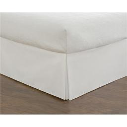 Todays Home TOH25014WHIT04 Basic Microfiber Tailored 14 in. Bedskirt, White - King