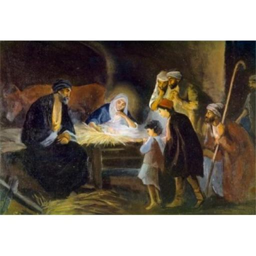 Posterazzi SAL9005167 Adoration of the Shepherds by Robert Leinweber 1845-1915 Poster Print - 18 x 24 in.