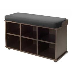 Winsome Trading 92633 Townsend Bench with Black Cushion Seat