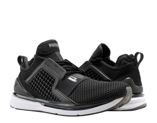 newest 5a86a 59848 Puma IGNITE Limitless Weave Puma Black/White Men's Running Shoes 19050302