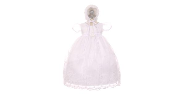 104019b331b Kids Dream Baby Girls White Organza Pearls Sequins Christening ...