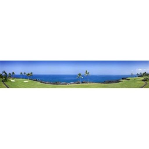 Panoramic Images PPI97031L Trees in a golf course Kona Country Club Ocean Course Kailua Kona Hawaii Poster Print by Panoramic Images - 36 x 12