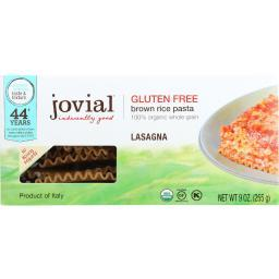 Jovial Pasta - Organic - Brown Rice - Lasagna - 9 oz - case of 12