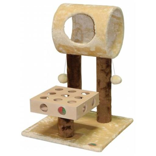 Go Pet Club SF057 IQ Busy Box Cat Tree House Toy Condo Pet Furniture, 17.75 W x 20 L x 26 H in.
