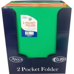"Premium Plastic 2 Pocket Folder - Assorted Colors - 9.25"" X 11.5"""