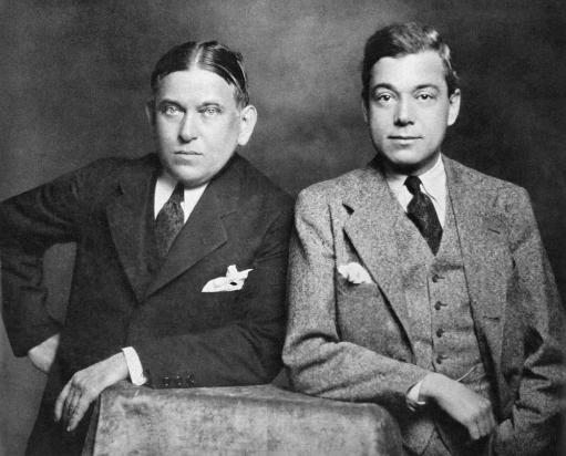 Henry Louis Mencken /N(1880-1956). American Editor And Satirist. Mencken With George Jean Nathan In 1928. Poster Print by Granger Collection BTJL4TYHYAXYQYUK