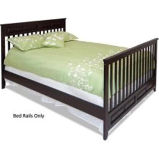 Childcraft F06454.07 Child Craft Logan Full Bed Rails for Convertible Crib in Jamocha