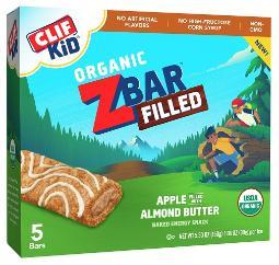 Clif Kid Organic Z Bar Filled Apple Almond Butter