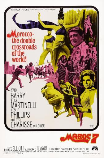 Maroc 7 Us Poster Art Top Bare Midrift: Elsa Martinelli; Top Right: Gene Barry; Right With Gun: Cyd Charisse 1967 Movie Poster Masterprint