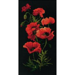 "Poppies Counted Cross Stitch Kit 9.75""X19.75"" 10 Count"