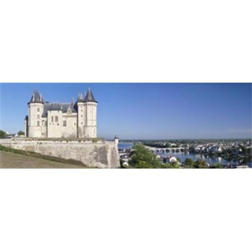 Castle in a town Chateau de Samur Saumur Maine-Et-Loire Loire Valley Pays-De-La-Loire Centre Region France Poster Print by - 36 x 12