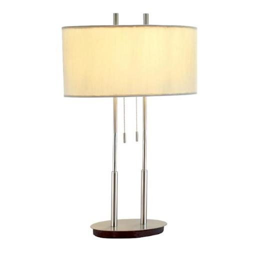 Adesso 4015 Duet Table Lamp Satin Steel 22
