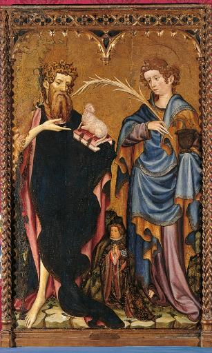 St John The Baptist And St John The Evangelist With A Donor Poster Print OKA7EXUGYPIEXJFA