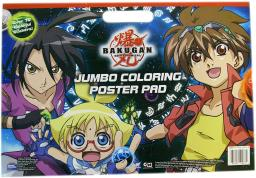 Battle Brawlers Jumbo Bakugan Coloring Poster Pad with Stickers