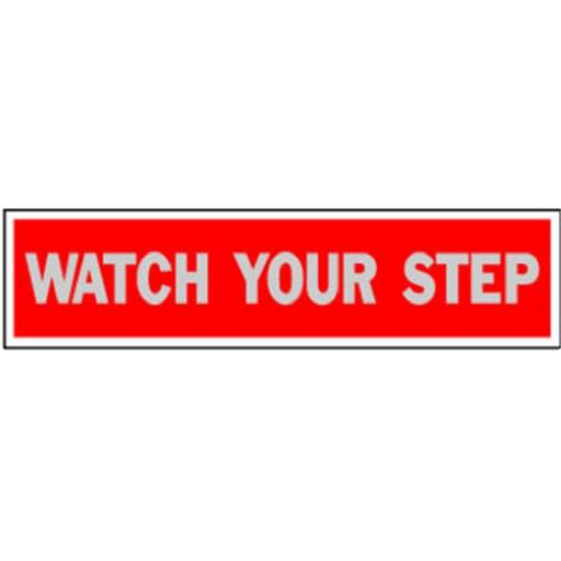 Hy-Ko Products 440 Red, 2 x 8 in. Watch Your Step Sign - Pack Of 10 PTWNFUUDBEQSHUTS