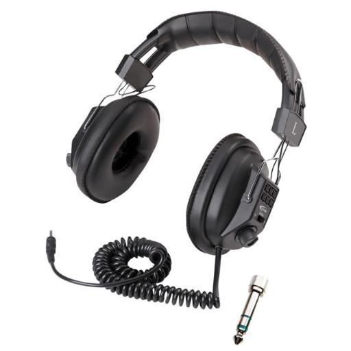 Califone 1544103 Stereo-Mono Headphone Classroom Pack with Carrying Case, Pack of 12