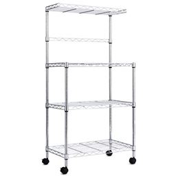 3-Tier Kitchen Microwave Baker Stand Storage Cart Rack