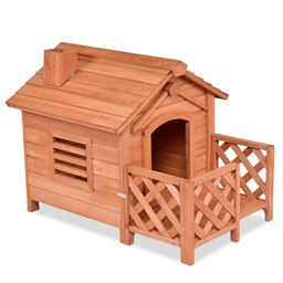 Wooden Pet Dog House Crates with Porch Window