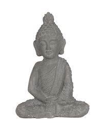Urban Trends Ceramic Meditating Buddha Figurine with Pointed Ushnisha in Dhyana Mudra in Washed Concrete Finish - Gray
