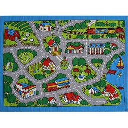 Paradise Kids Area Rug (Street Map Grey) (7ft4in. X10ft4in.)