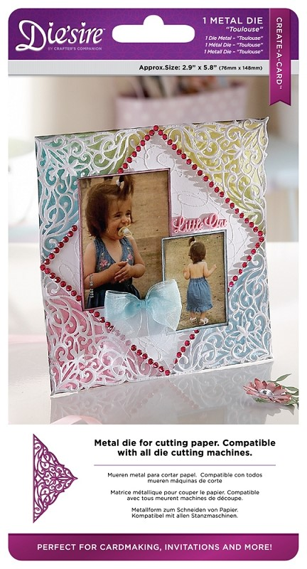 Crafters Companion Diesire Create-A-Card Metal Die Toulouse
