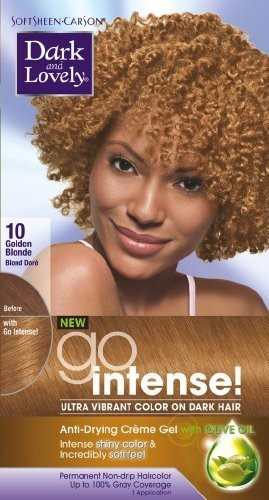 Dark & Lovely Go Intense #10 Hair Color Golden Blonde Kit (Pack of 2) 46CA2DAE5C3BF941