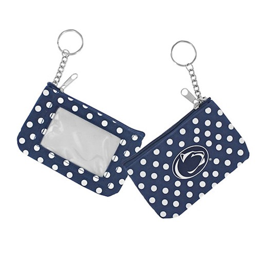 Sports Team Logo NCAA Penn State Nittany Lions Coin Purse ID Keychain