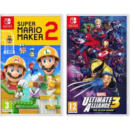 Super Mario Maker 2 and Marvel Ultimate Alliance 3: The Black Order - Nintendo Switch