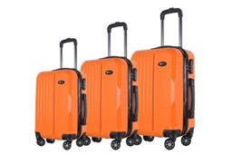 Brio Luggage Hardside Spinner Luggage Set #1701 - Orange
