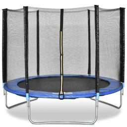 8 ft Safety Jumping Round Trampoline with Spring Safety Pad