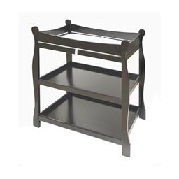 Badger Basket Co Black Sleigh Style Changing Table