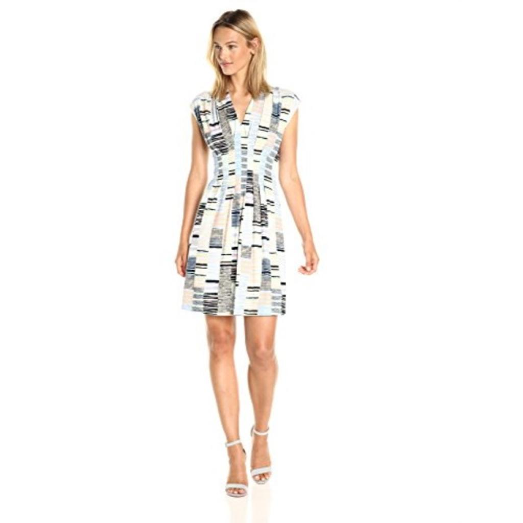CATHERINE CATHERINE MALANDRINO Women's Tinka Dress, Broken Stripe, M
