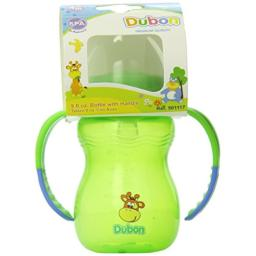 Bebe Dubon Wide Neck Bottle with 2 Handles, 9 Ounce, Colors May Vary