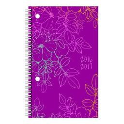 Brownline 2017 Weekly Academic Planner July-July Poly Cover 8 x 5 inches Bohemian (CA121PBASX-17)