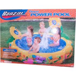 """Banzai Flower power Pool Set with Cute and Cool Sprinkling Daisy (Pool Size : 58"""" Diameter x 28"""" High)"""