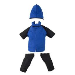 Casual Canine Nylon Dog Snowsuit, X-Small, 8-Inch, Royal Blue