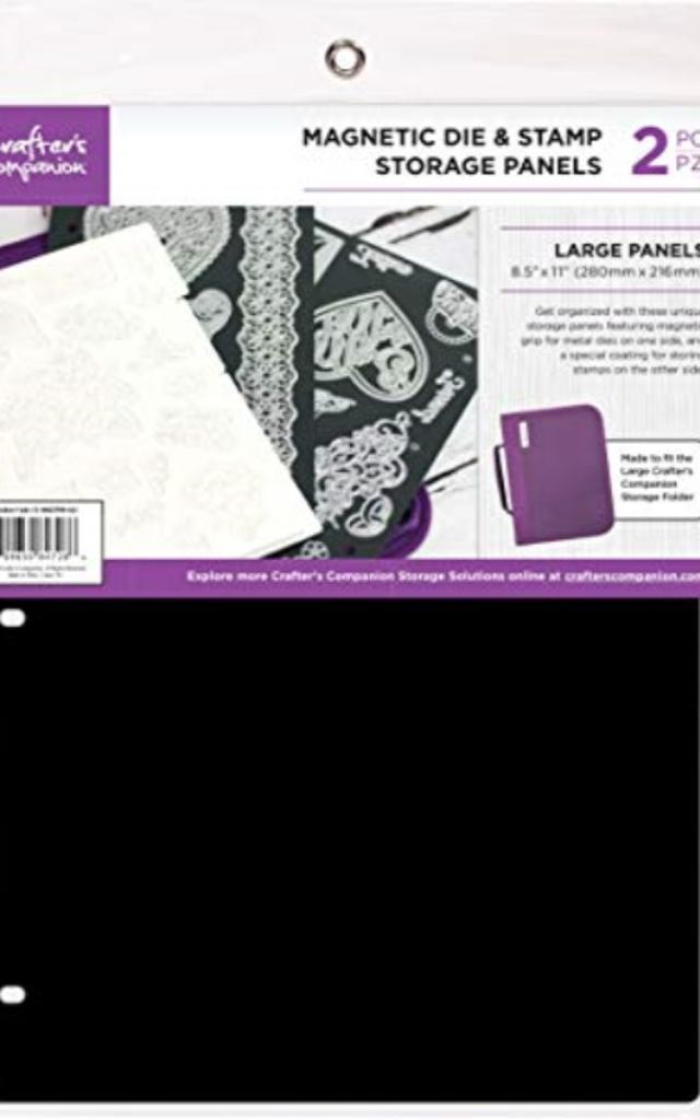 """Crafter's Companion CCMAGSTL 8.5""""X11"""" Magnetic Storage Panels 2/Pkg-Large"""