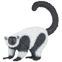 Papo Ruffed Lemur Figure, Multicolor