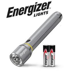 Energizer LED Flashlight, IPX4 Water Resistant, 400 Lumens, Aircraft-Grade Aluminum Flash Light, Long Battery Life, AA Batteries Included