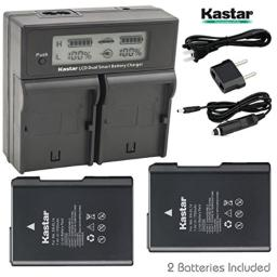 Kastar LCD Dual Smart Fast Charger & 2 x Battery for Nikon EN-EL14 EN-EL14A Battery and Nikon D3100, D3200, D3300, D3400, D5100, D5200, D5300, D5500, DF, Coolpix P7000, P7100, P7700, P7800 DSLR Camera